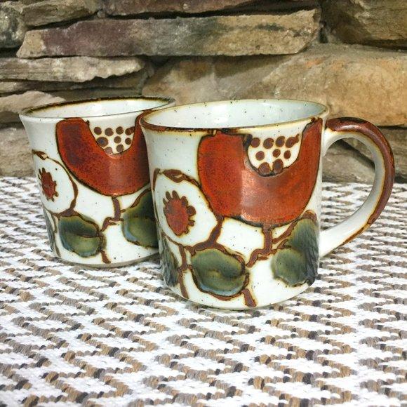 VTG Floral Mugs Otagiri -type 70s Cups Boho